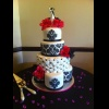 Damask Wedding Cake.