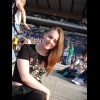 Sat on the ground in the national stadium :D